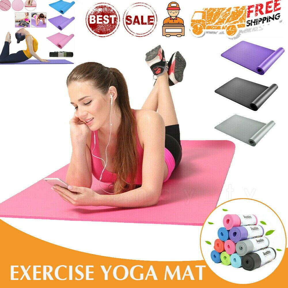 5mm//6mm Natural Cork Yoga Mat Meditation Fitness Training Non Slip Eco-Friendly