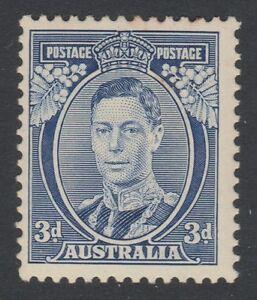 1937 KGVI 3d Blue Die 1a very lightly hinged mint