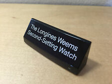 Placa Expositor Exposant Plaque LONGINES The Longines Weems Second-Setting Watch