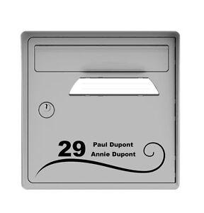 sticker autocollant a personnaliser boite aux lettres num ro de rue nom bnn2 ebay. Black Bedroom Furniture Sets. Home Design Ideas