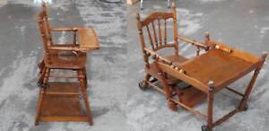 Baby Hochstuhl Mit Tisch.Details Zu Kinder Baby Hochstuhl Spielstuhl Mit Tisch Klappbar Wohl 1930er Jahre H