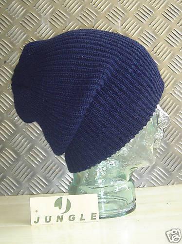 Blu Navy a Maglia Cappello Beanie//Guarda Cap//Cappello Lanoso-Taglia Unica-Nuovo Cappelli X 10