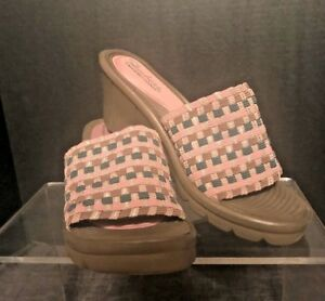 Details About Skechers Stretch Weave Memory Foam Wedge Heel Ladies Shoes Size 6 7 Free Ship