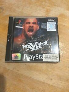 Wcw Mayhem PLAYSTATION PS1 PAL JUEGO Completo con Manual