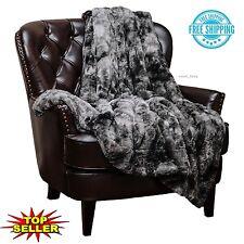 Chanasya Super Soft Fuzzy Fur Faux Fur Warm Cozy Fluffy Beautiful Plush Color