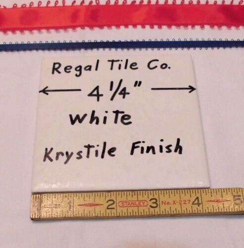 """1 pc Crystalline NEW Ceramic Tile  *White*  Krystile Glazed 4-1//4/"""" by Regal Co"""