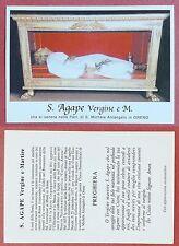 Santino Holy Card: S. Agape Vergine e Martire - Oreno