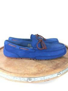 UGG-Chester-Capra-Loafer-Slippers-Royal-Blue-Size-9-Mens-1009521-Wool-Leather