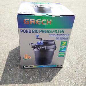 Compact 1600 gallon pressure 13w uvc fish pond bio filter for Pond bio filter