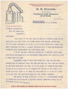 1903-Condensed-Milk-Machinery-Winthrop-Maine-Illustrated-Letterhead-Food-Dairy