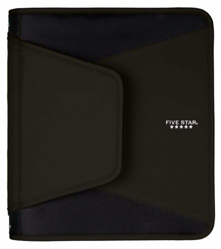 five star 1 1 2 inch zipper binder durable black 72204 ebay