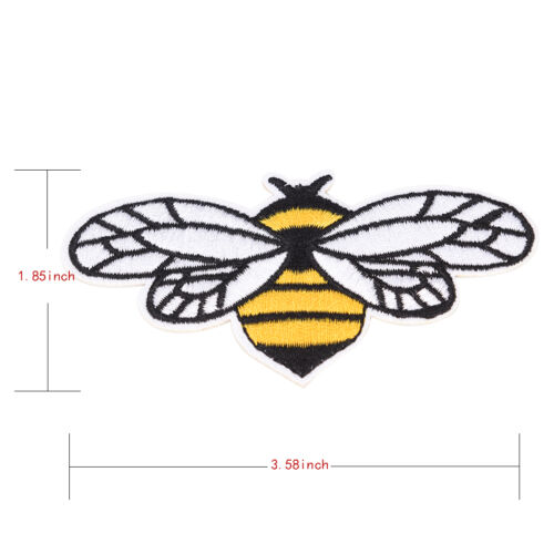 3X bee embroidered sew iron on patch badge fabric bag clothes applique laceTFSU