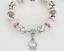 Disney Hello Kitty Pink Heart silvered Charms Children Bracelet XMAS KIDS GIFT