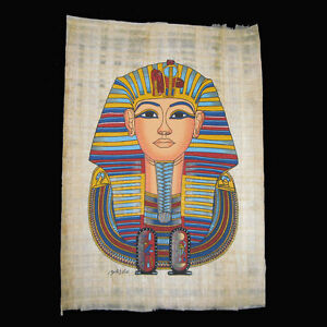Egyptian-Papyrus-genuine-hand-painted-King-Tutankhamun-in-Various-Designs