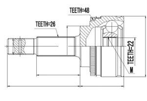 Set-Rotulas-exterior-TOYOTA-AVENSIS-1-6-1-8-99-2-0-TD-97-Auris-1-3-09-ABS-48t