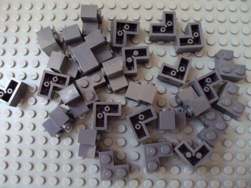 Lego ~ Lot Of 30 Dark Bluish Gray Corner 2x2 Bricks #xyhd