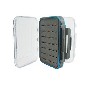 Fly-Fishing-Box-Flies-Case-100-Waterproof-Double-Sided-Clear-Lip-Grip-Foam