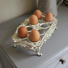 Rustikale Creme Eisen Ei Halter küchen zubehör goft landhaus beunruhigt
