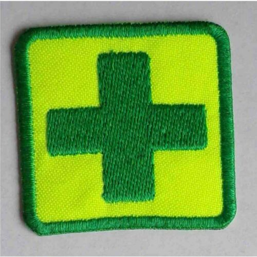 FIRST AID CROSS embroidered cloth patch badge  free choice of backings