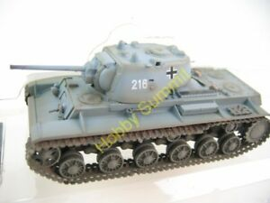 1-72-WWII-German-KV-1-1941-Army-Captured-Heavy-Tank-Gray-Finished-Model