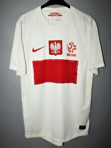 best authentic fbb47 a7fc7 Details about POLAND NATIONAL TEAM 2012 2013 HOME FOOTBALL SHIRT JERSEY  NIKE SIZE S