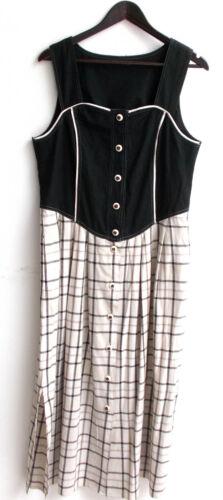 Rock kariert ca Gr Damen Trachten Kleid ärmellos schwarz 48