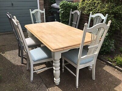 dining table and 6 chairs Shabby Chic | eBay