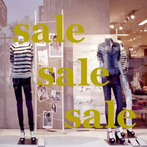 3 x SALE shop window glass sign vinyl stickers retail store display decals 43x17