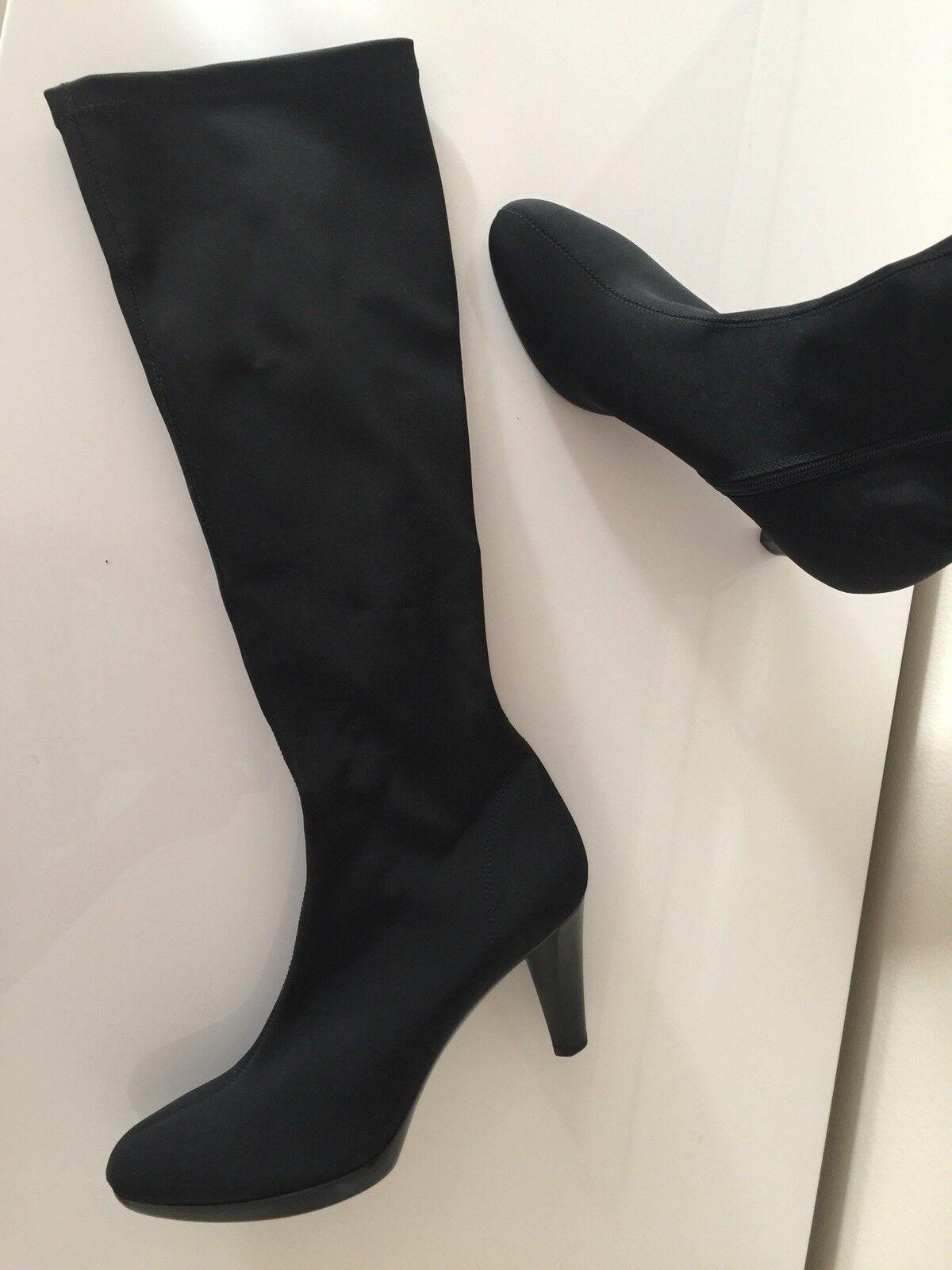 Stiefel mit schmalem schwarz, elastischem Schaft von Rapisardi, schwarz, schmalem Grösse 41 2d7759