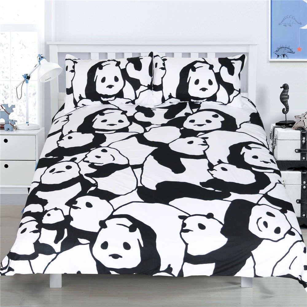 Panda Without Panda Eye 3D Digital Print Bedding Duvet Quilt Cover Pillowcase