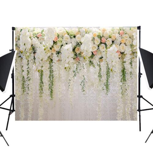 Flower Backdrop Curtain 3D White Floral Drape Wedding Background Photo Backdrop