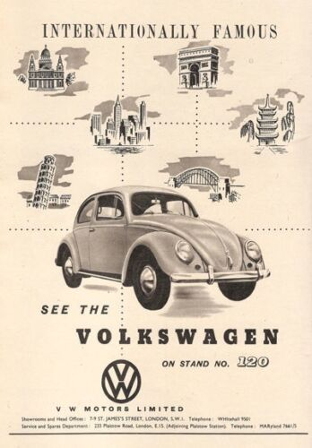 AD83 Vintage Volkswagen Beetle Car Advertisement Poster Re-Print A3//A4