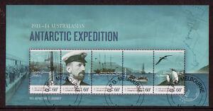 Australia-Antartida-Expedition-Centenario-2011-Hoja-Miniatura-Cto
