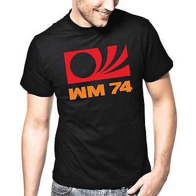 WM 74 DEUTSCHLAND WELTMEISTERSCHAFT 1974 RETRO FUßBALL T-SHIRT