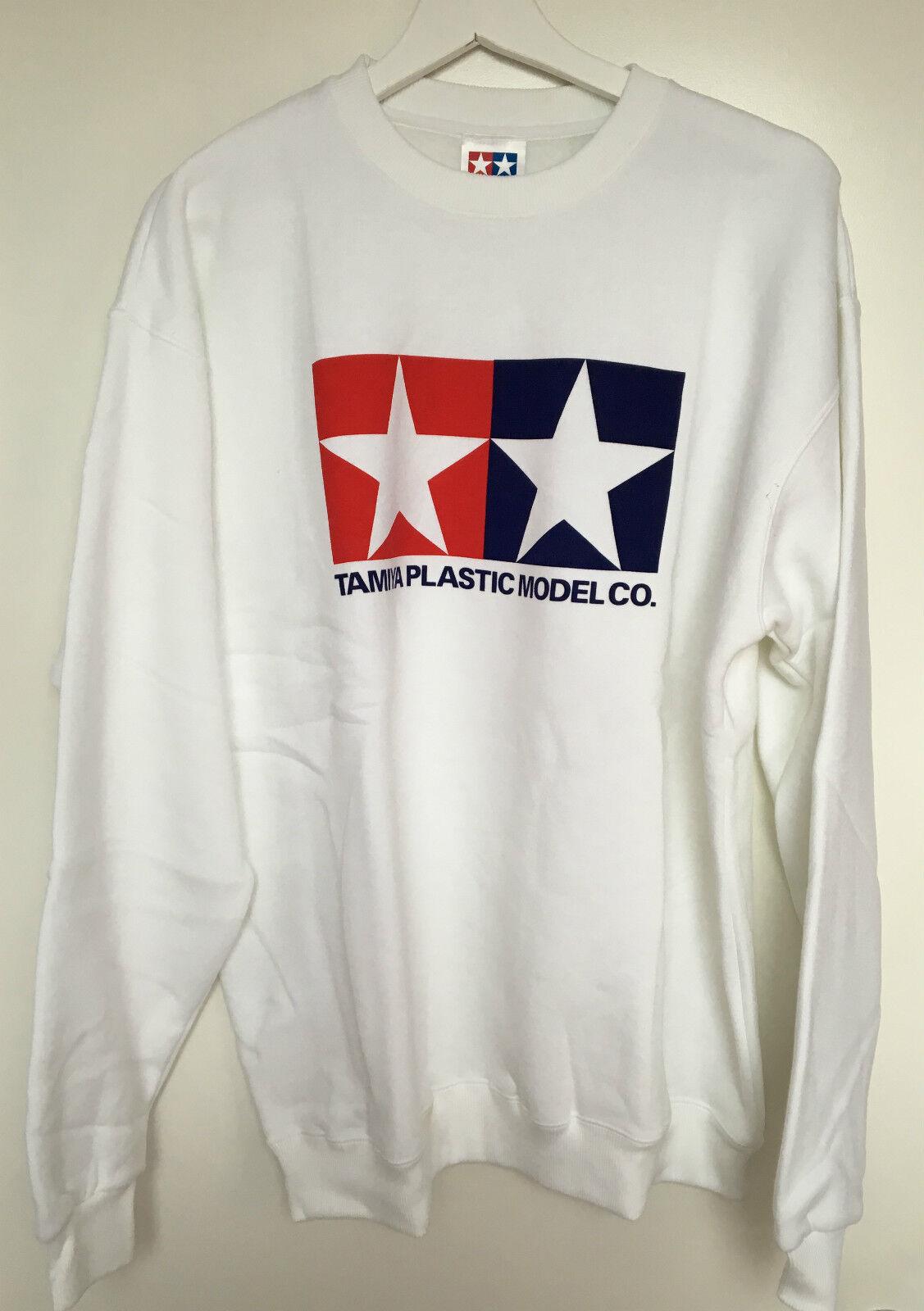 Tamiya 66859 Official Tamiya Logo White Jumper Sweatshirt Sweatshirt Sweatshirt Extra Large (XL) NEW ae1255
