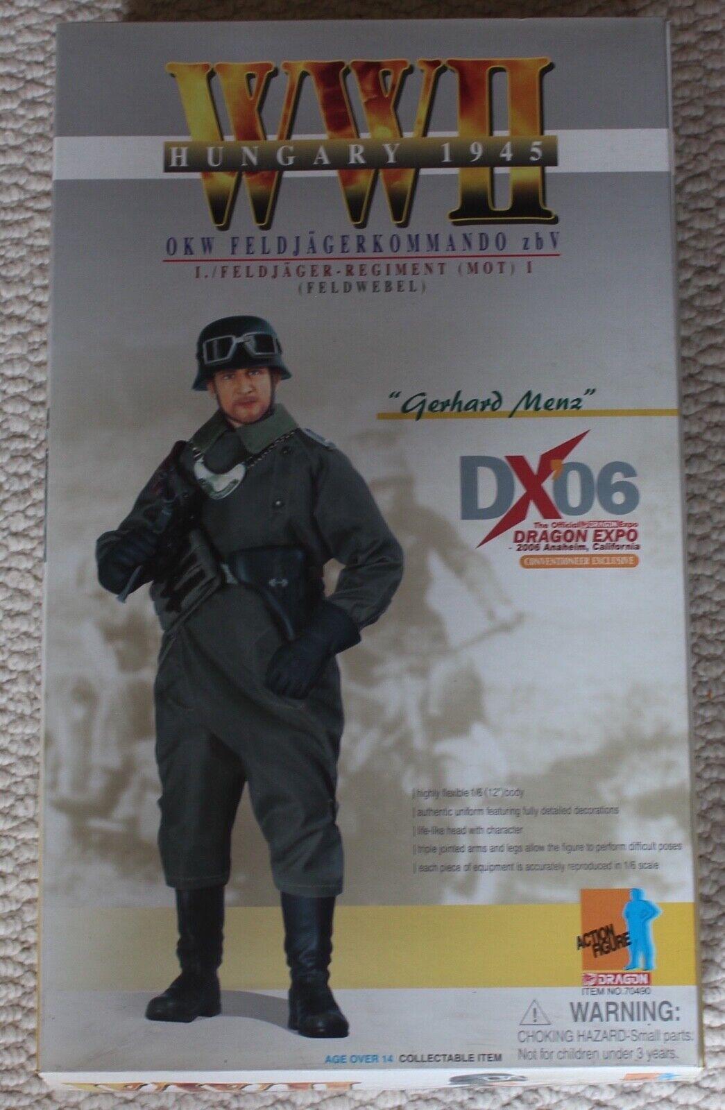 Dragon action figure ww11 gerhard Siez 1 6 12'' 70490 did cyber hot toy