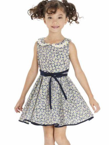 Kate Mack Girls Navy Cotton Dress Daisy Print Sleeveless Spring-Summer NWT