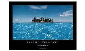 Paesaggi landscapes POSTER Island Paradise