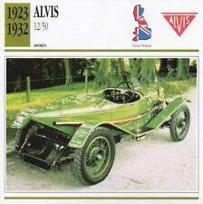 1923-1932 ALVIS 12/50 Sports Classic Car Photo/Info Maxi Card