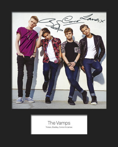 FREE DELIVERY THE VAMPS #2 10x8 SIGNED Mounted Photo Print