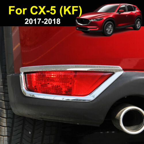 For Mazda Cx-5 Cx5 2017-2019 Chrome Rear Tail Fog Light Lamp Cover Trim Molding