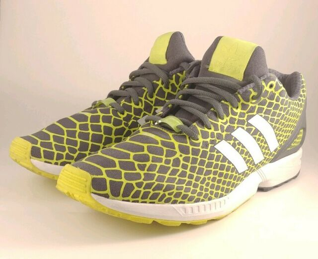 best sneakers e8004 a947d Adidas ZX Flux Techfit Mens Running shoes Lime Green/Onix/White B24934 Size  12