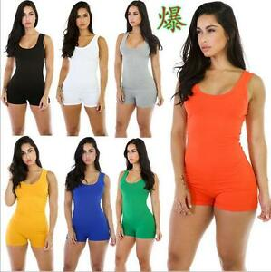 94064a2d0ef Image is loading Women-Summer-Bodysuit-Rompers-Jumpsuit-Sexy-Shorts-Bodycon-
