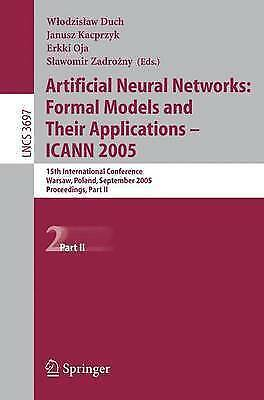 1 of 1 - Artificial Neural Networks: Formal Models and Their Applications --ExLibrary