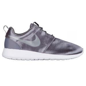 Details about NEW Women's Nike Roshe One Premium Shoes Satin Gray Smoke White Free 83928 006