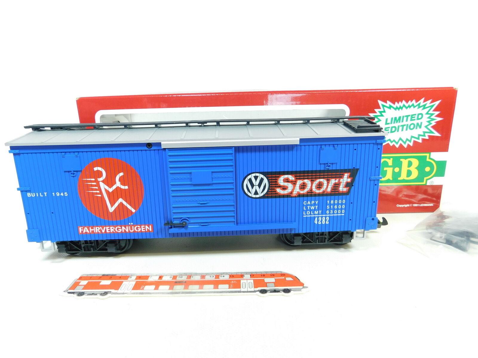 BR104-3 LGB Échélle G   Iim   Dc 4290 VW Us-Box car   Wagon de Marchandises