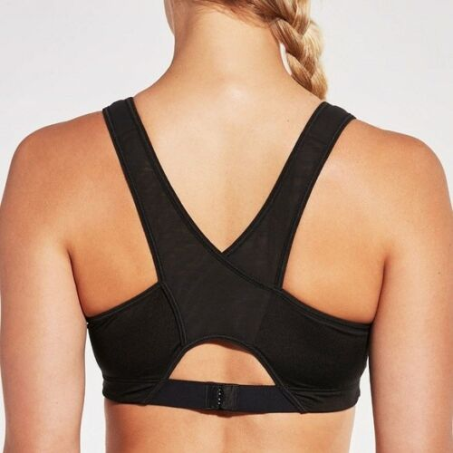 CALIA by Carrie Underwood Strength Cross Front Mesh Sports Bra NWT
