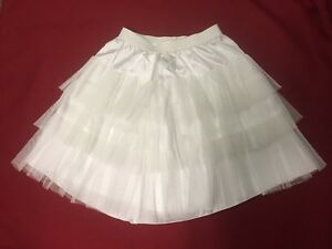 Flower-Girls-Off-White-Ivory-Soft-3-tier-Lined-Net-petticoat-Slip-Skirt-2-12-Yr
