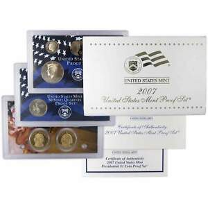 2007-S Proof Set United States US Mint Original Government Packaging Box /& COA