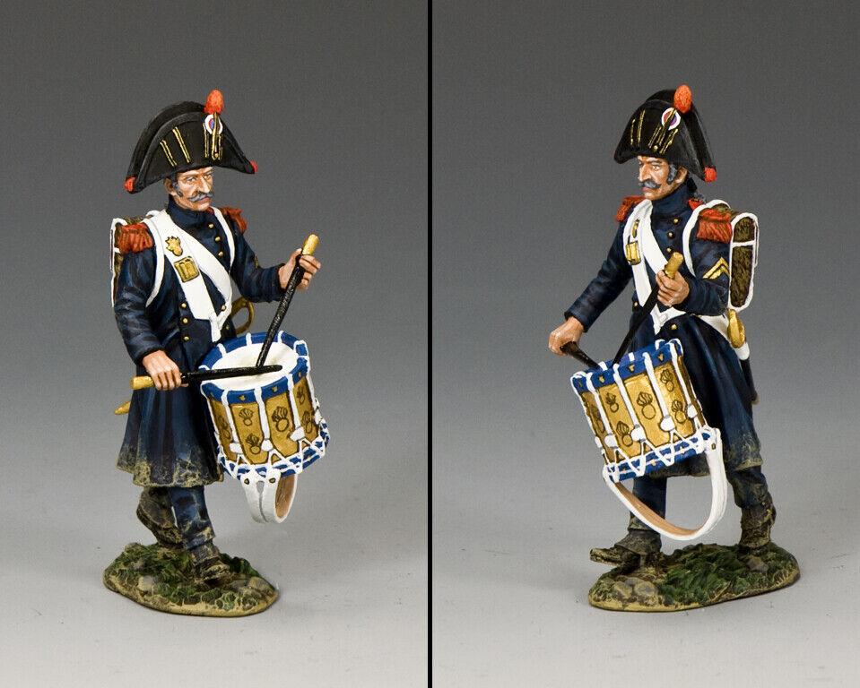re & Country The Età di Napoleone NA406 Francese Old Prossoezione Drummer MIB